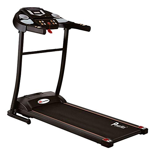 PowerMax Fitness TDM-97 1HP (2HP Peak) Motorized Treadmill with Free Installation Assistance, Home Use & Automatic BMI Calc.