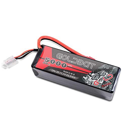 GOLDBAT Batteria Lipo 11.1V 5000mAh 3S 50C RC Batteria Lipo con Deans T Plug RC Car Truck Buggy Axial Emaxx