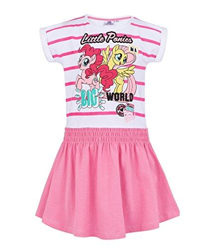 My little Pony Kleid, weiß-rosa, Gr. 92-128 Größe 92