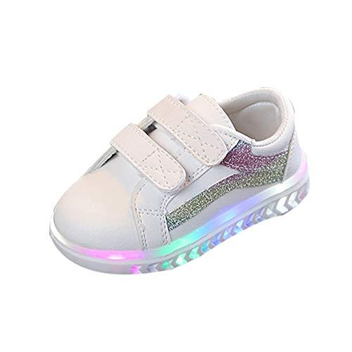 Babyschuhe,Kinder Baby Mädchen Jungen Bling LED Licht Leucht Laufende Sport Sneaker Schuhe,Binggong Baby LED Schuhe