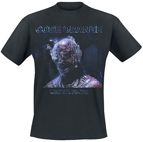 Code Orange Underneath Photo Hombre Camiseta Negro L, 100% algodón, Regular