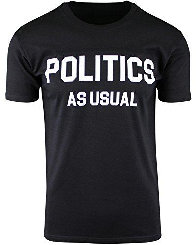 ShirtBANC Politics As Usual Mens T Shirt Hip Hop Inspired Mens Apparel (Black, 2XL)
