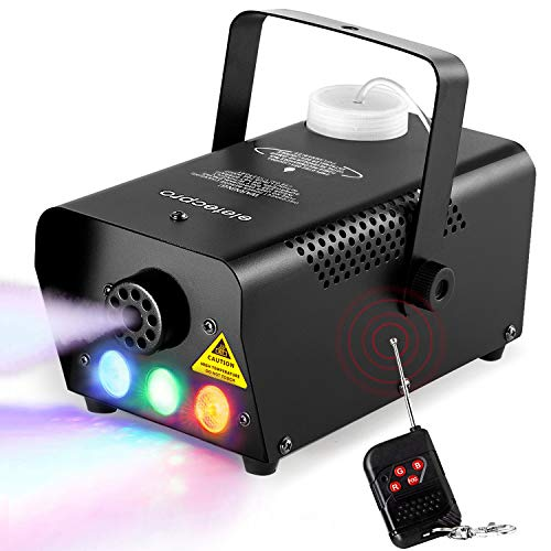 eletecpro Halloween Colorful Fog Machine,Portable 500W LED Smoke Machine with Fuse Protection,2000 CFM Professional Wireless Remote Control for Holidays Parties Weddings