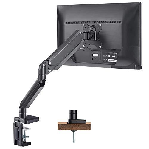 PUTORSEN® Monitor Tischhalterung - Premium Aluminium Ergonomische Schwenkbare Neigbare Höhenverstellbar Einarm Monitorhalterung für 17