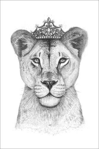 Poster 40 x 60 cm: The Queen von Valeriya Korenkova - hochwertiger Kunstdruck, neues Kunstposter