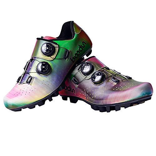 Zapatillas de Bicicleta de Montaña,,Calzado de Bicicleta, Zapatos de Bicicleta Antideslizantes Transpirables para Hombres para Ciclismo de Carretera y Ciclismo de montaña,B,45