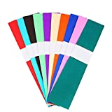 JANOU 10pcs Colorful Paper 10 Colors Crepe Paper DIY Multi-Functional Tissue Paper Wrapping Paper for Arts Crafts Decorations