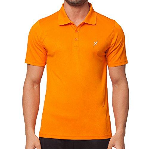 CFLEX Herren Sport Shirt Fitness Polo-Shirt Sportswear Collection - Orange M