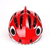 DETZH Bambini Casco Skateboard per 5-13 Anni delle Ragazze dei Ragazzi del Casco Regolabile per Biciclette BMX Roller Inline,Rosso