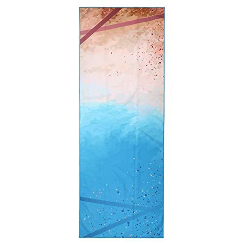 Andouy Yoga Handtuch Drucken Fitnesstuch - rutschfest, Leicht, Recyceltes, Saugfähiges Mikrofaser Yogahandtuch für Hot Yoga Bikram Ashtanga und Pilates(185X68CM.B)