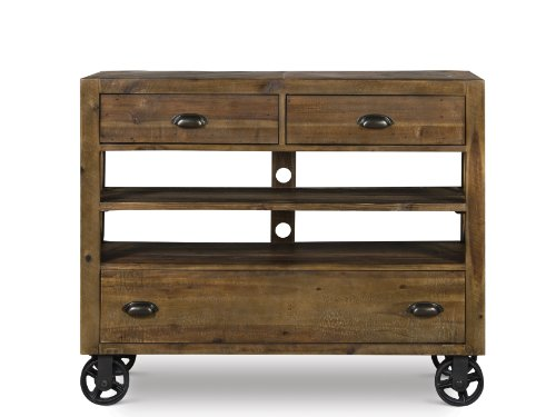 Hot Sale Magnussen B2375-36 River Ridge Wood Media Chest with Casters