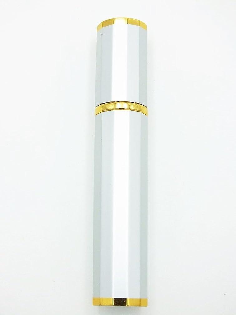 長さ神話有名Shop XJ アトマイザー 香水 詰め替え ゴールドライン (ホワイト)
