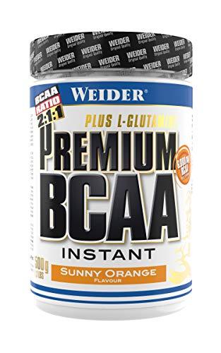 Weider Premium BCAA Instant Aminosäuren Pulver + Glutamin und Vitamin B6, Sunny Orange, 500 g