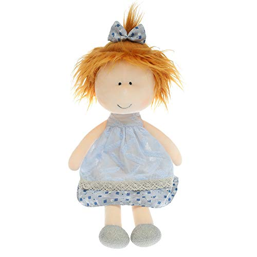 Textile Waldorf Doll Baby Doll, Baby Вirthday Gift Doll with Clothes, Handmade Rag Dolls for Home Decoration and Interior Design,14 Inch Children's Day Gift Toy, 2020 New Hot Toys (Light blue)