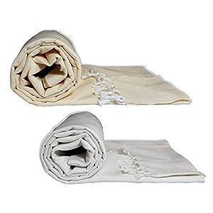 Riyashree Organic Cotton Silky Soft Bhagalpuri Dull chadar lite Blanket & Duvet ( 52*94 in ) Combo Pack of 2 Dull 10 13
