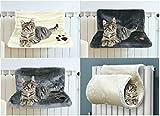 TopgadgetsUK Gato Gatito Colgante Radiador Mascota Cama Perro Cuna Cuna Hamaca de felpa (Blanco)
