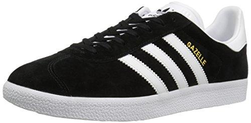 Adidas Originals Men's Gazelle Lace-up Sneaker,Black/White/Gold Met.,11 M US