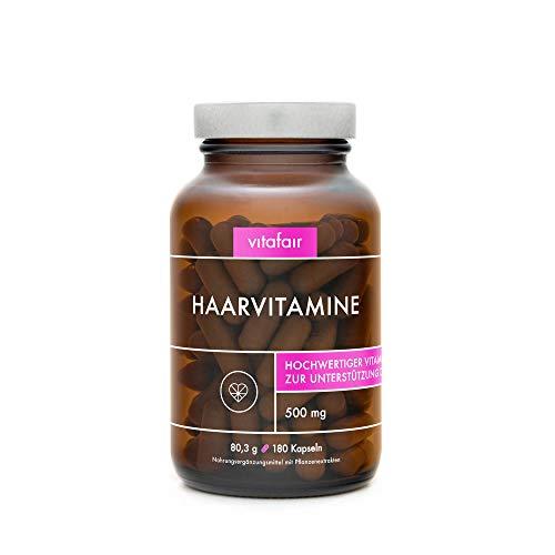Haar Vitamine - Biotin & Zink mit Natürlicher Bierhefe und Hirsesamenextrakt - Vegan und Ohne Zusätze - German Quality
