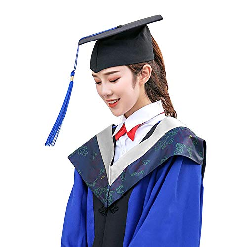 Ni. Traje de graduación para adulto y gorra de borla, uniforme de licenciatura universitaria, adecuado para hombres y mujeres, uniforme maestro de adultos, vestido de discurso de graduación, gris, L
