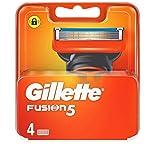 Gilette Lames de Rasoir Gillette Fusion, 4 Pièces