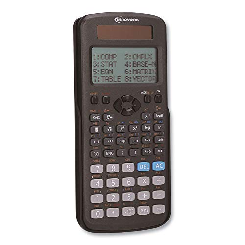 Innovera 15970 Advanced Scientific Calculator, 417 Functions, 15-Digit LCD, Four Display Lines