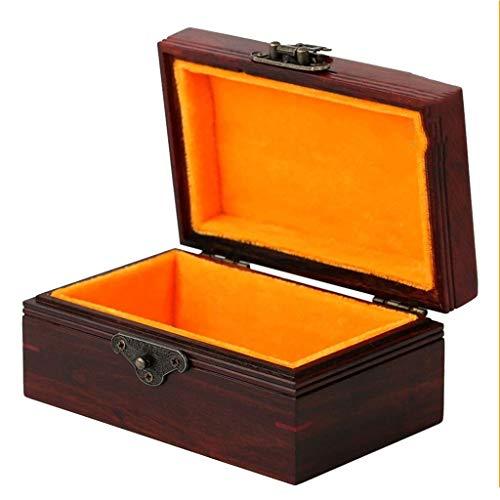 DGHJK Schmuckschatulle Armband Sammelschachtel Kleiderschrank Vitrine Reisetasche (Farbe: Braun, Größe: 13,58,56,5 cm)