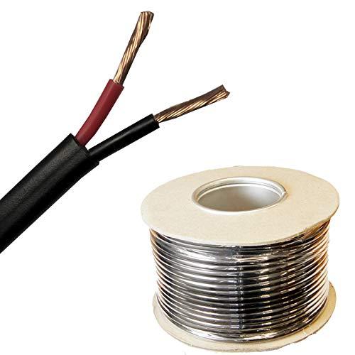 MKGT Kfz-Kabel, flach, 0,5 mm², 11 A, 2-adrig, 12 V, dünnwandig, Rot / Schwarz, 10 Meter