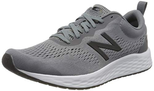 New Balance Men's Fresh Foam Arishi V3 Running Shoe, Gunmetal/Steel, 10.5 X-Wide