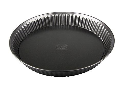 Dr. Oetker 1443 Quicheform Ø 28 cm, Tarteform aus Stahl mit Antihaftbeschichtung, runde Backform für Tortenboden, Menge: 1 Stück