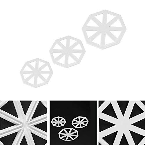 FGVBC Cortadores con Forma de Bandera S, M, L, Molde para decoración de Pasteles, Molde para Fondant de Chocolate para Herramientas de Bricolaje (3 Piezas