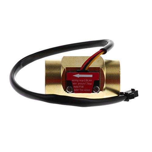 Dolity G3/4 Flüssigkeit Wasser Durchflusssensor Schalter Durchflussmesser 2-50 L/min