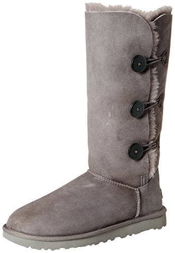 Ugg Australia Bailey Button Triplet II 1016227-Grey Suede Womens Boots - Grey - 39