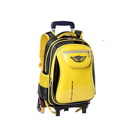 MxZas Trolley travel bag Trolley Schoolbag Students 6 Wheels Waterproof Climb Stairs Girls Boys Backpack Large Capacity Easy To Clean School Bag Detachable Durable Mold Wheels Jzx-n