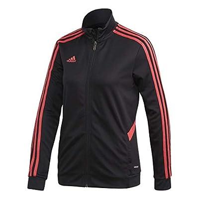 adidas Women's Soccer Tiro Track Jacket Black/Core Pink X-Large