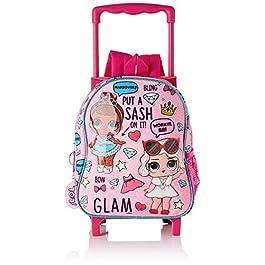 LOL SURPRISE Glam Sac à dos garderie avec chariot fixe à roulettes, rose