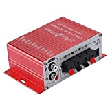 Amplificador Automático Para Automóvil, Cuatro Modos De Campo De Sonido De DSP Reproductores De Audio Profesionales De Baja Distorsión Altavoz Para Automóvil De Alta Potencia Para FM Para(rojo)