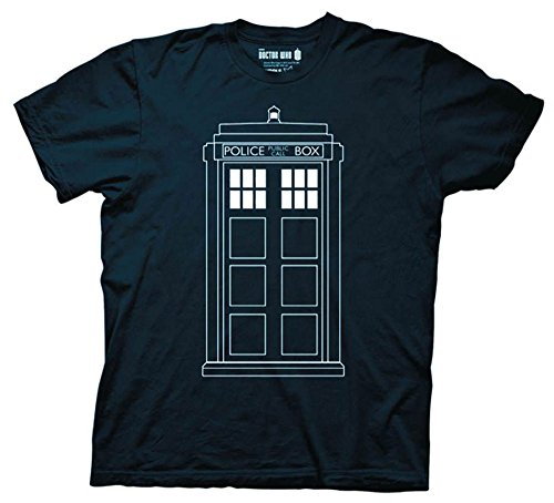 Doctor Who Follow Me Tardis Glow Word T-Hemd   2XL
