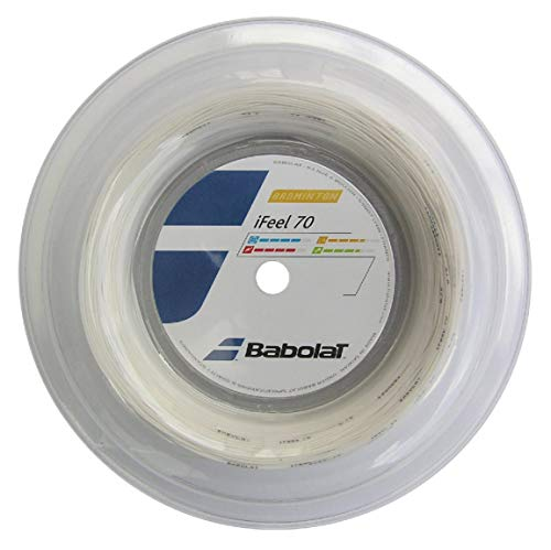 Bobine Cordage Badminton babolat ifeel 70 Blanc...