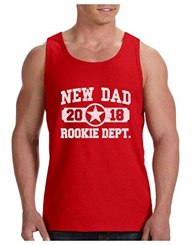 Camiseta de Tirantes Hombre - New Dad 2018 Rookie Department - Regalo para Padres Primerizos, Futuros Papás
