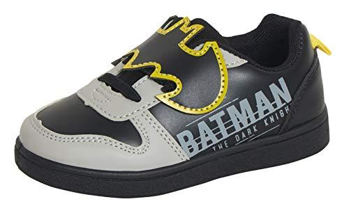 DC Comics Batman - Zapatillas deportivas para niños 3D de fácil fijación, Negro (Negro ), 30.5 EU