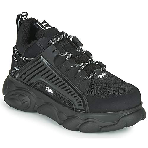 Buffalo Damen Sneaker CLD Hike, Frauen Low Top Sneaker, Halbschuh schnürschuh strassenschuh Sneaker freizeitschuh,Schwarz(Black),37 EU / 4 UK