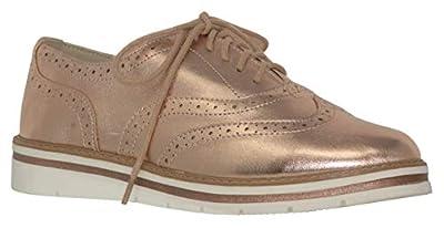 Soda White Bottom Womens Oxford Shoes, Casino Dk Penny MTLC Size 6.5