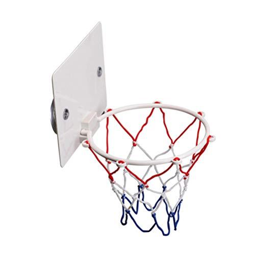 BESPORTBLE Mini bastidor de basquete sobre a porta para esportes com bomba e bolas para amantes de basquete, meninos e meninas em ambientes internos e externos