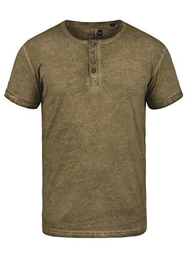 !Solid Tihn Herren T-Shirt Kurzarm Shirt Mit Grandad-Ausschnitt Aus 100% Baumwolle, Größe:M, Farbe:Ermine (5944)