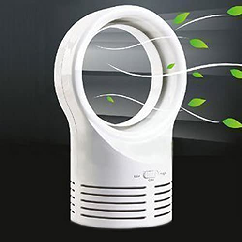 Syfinee Mini ventilador sin cuchilla, refrigeración eléctrica para dormir súper silenciosa de dos velocidades para el hogar