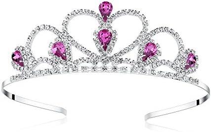 Lovelyshop Purple Gems Rhinestone Tiara for Little Kid Big Kid Prom Birthday Prinecess Crown product image