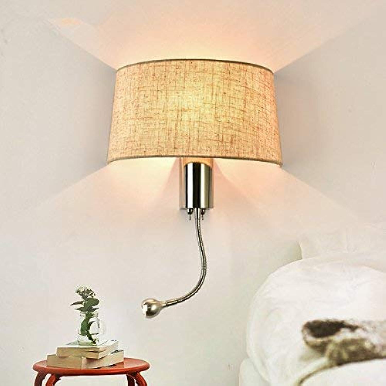 Lesen Sie Mehr Hotel Gewebe Modernen Minimalistischen Schlafzimmer Wohnzimmer Flur Wandleuchte (Switch), Amerikanische Wandleuchte,A