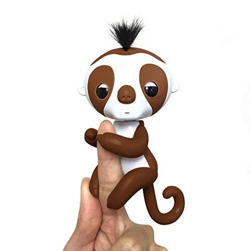 Kinderen Robert Baby vingertoppen Elektronica Dierlijk speelgoed Poppen Cadeau Geluid Vinger Beweging Hanger Kinderen Educatief Toybrown