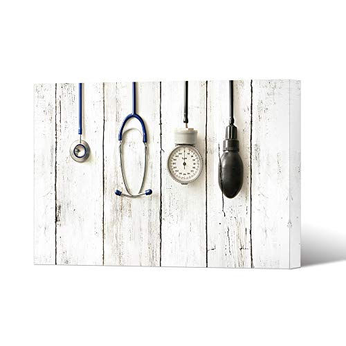 HOMEOART Medical Wall Art Clinic Decor Picture Health Care Concept Apparatus and Instruments Doctor Nurse Gift 24x36inch