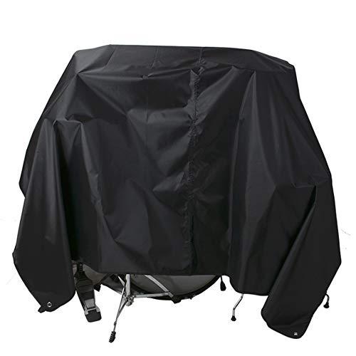 NANDAN Drum Kit Schutzumschlag, Schwarz Teleskop Oxford Tuch Wasserdicht UV-Schutzhülse, Elastische Linie Und Schlagzeuger Ausrüstung